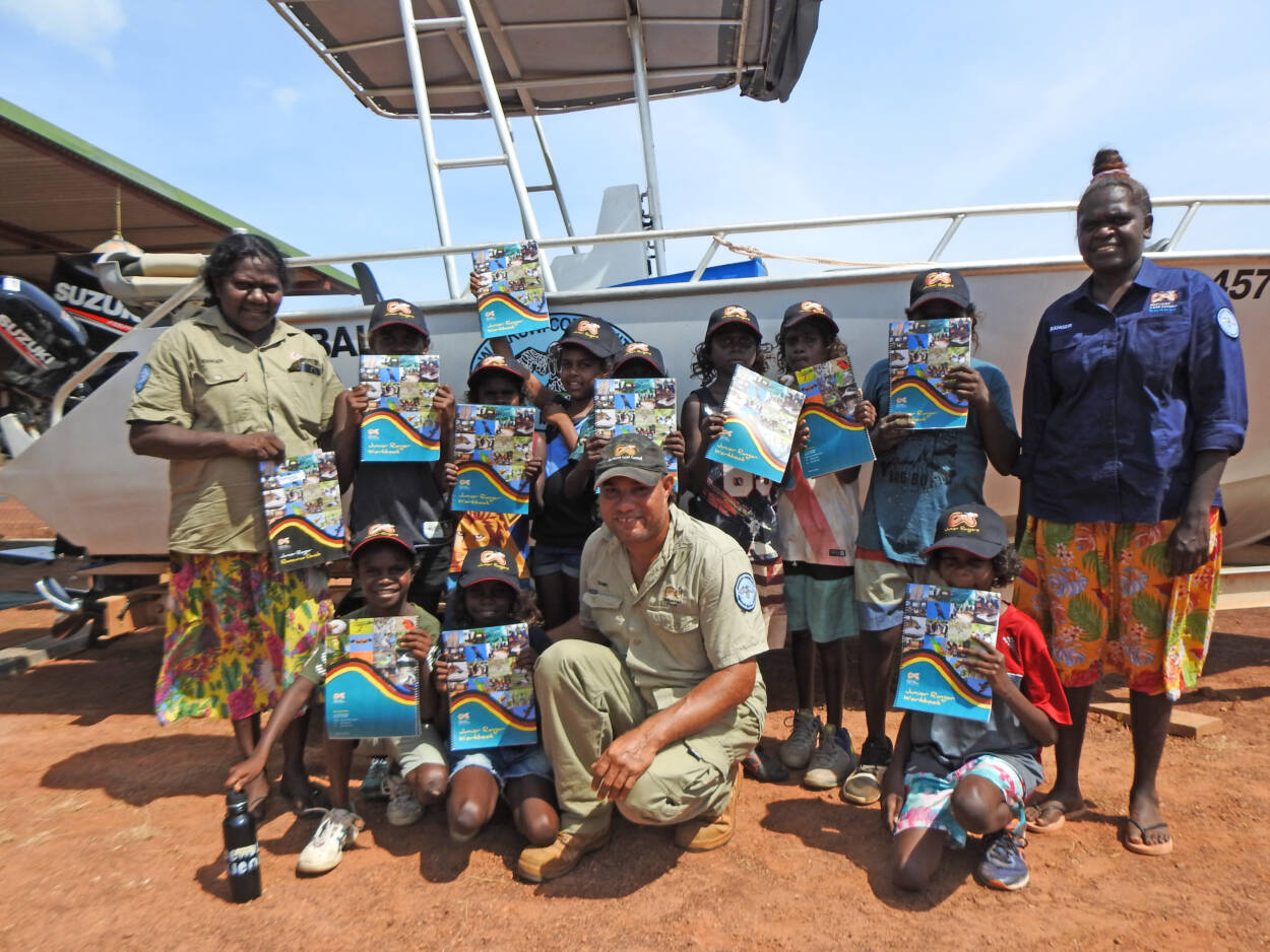 Junior Rangers Embrance Their New Resources